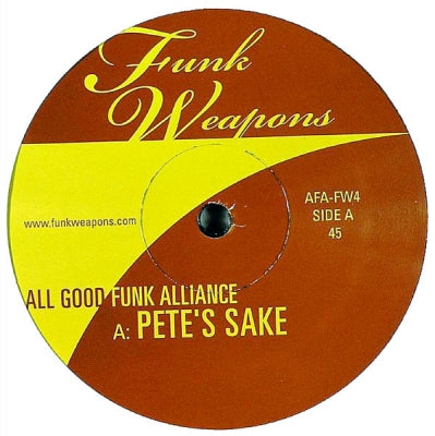 ALL GOOD FUNK ALLIANCE - Pete's Sake / Swing The South