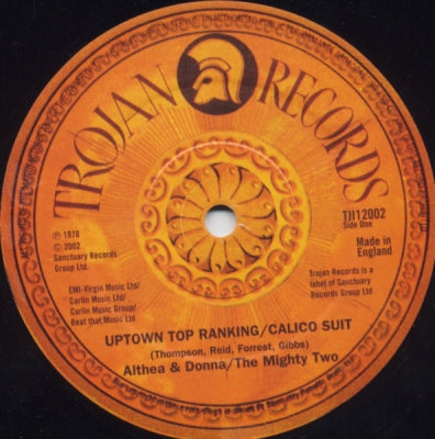 ALTHEA & DONNA / THE MIGHTY TWO, MARCIA AITKEN / TRINITY - Uptown Top Ranking / Calico Suit / I'm Still In Love Three Piece Suit