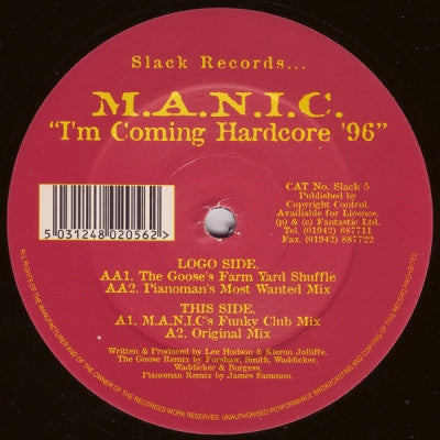 M.A.N.I.C. - I'm Coming Hardcore '96