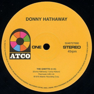 DONNY HATHAWAY - The Ghetto / The Slums