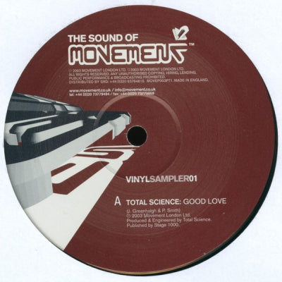DANNY C & ADDICTION / TOTAL SCIENCE - The Sound Of Movement Vinyl Sampler 01