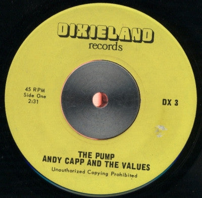 ANDY CAPP AND THE VALUES / BUNGO HERMAN - The Pump / The Pump Dub