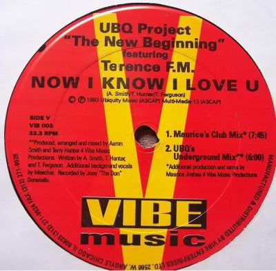 UBQ PROJECT FEATURING TERENCE F.M. - Now I Know I Love U