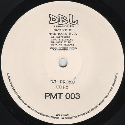 D.B.L. PRODUCTIONS - Nature Of The Bass E.P.