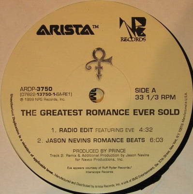 PRINCE - The Greatest Romance Ever Sold