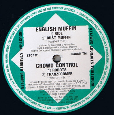 ENGLISH MUFFIN / CROWD CONTROL - Industrial Strength Sampler