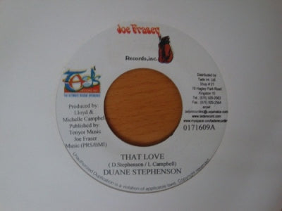DUANE STEPHENSON - That Love / Version.