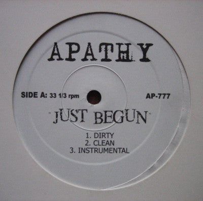 APATHY - Just Begun / Chrome Depot Freestyle