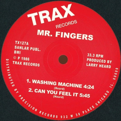 MR. FINGERS - Washing Machine / Can You Feel It / Beyond The Clouds