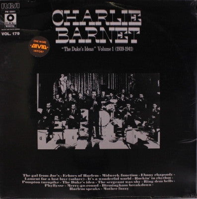CHARLIE BARNET - 'The Duke's Ideas' Volume 1 (1939-1941) (Black & White Series Vol. 179)