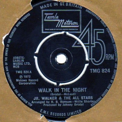 JR. WALKER & THE ALL STARS - Walk In The Night / Right On Brothers And Sisters / Gotta Hold On To This Feeling