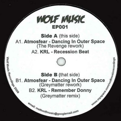 ATMOSFEAR / KRL - Dancing In Outer Space (The Revenge & Greymatter Reworks)