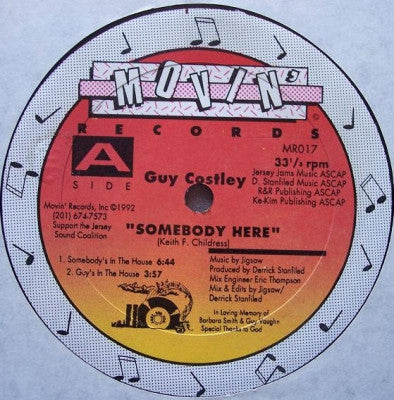 GUY COSTLEY - Somebody Here