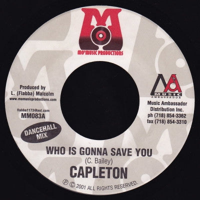 CAPLETON - Who Is Gonna Save You (Radio / Dancehall Mixes).