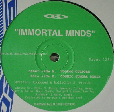 IMMORTAL MINDS - Voodoo Culture / Cosmic Jungle (Remix)