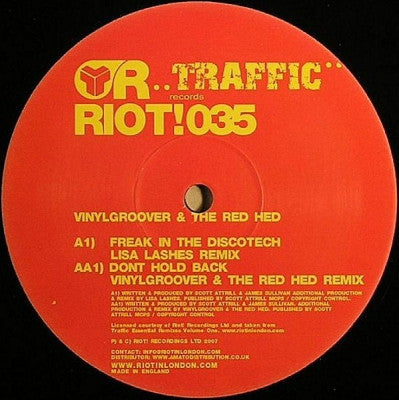 VINYLGROOVER & THE RED HED - Traffic Essential Remixes Vol 1