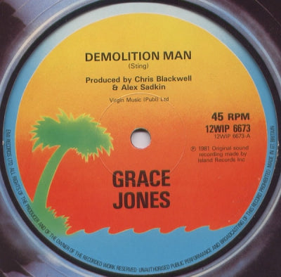 GRACE JONES - Demolition Man / Bull Shit