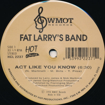 FAT LARRY'S BAND / BRANDI WELLS - Act Like You Know / Watch Out
