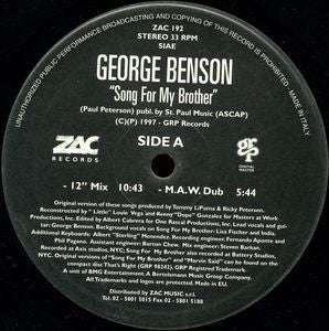 GEORGE BENSON - Song For My Brother / Baby I'm In Love (The Masters At Work Remixes)