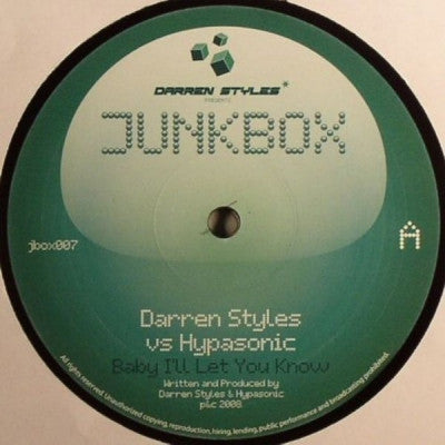 DARREN STYLES VS HYPASONIC - Baby I'll Let You Know / Party People