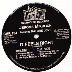 JEROME MIKULICH - It Feels Right