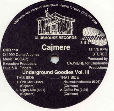 CAJMERE - Underground Goodies Vol. III