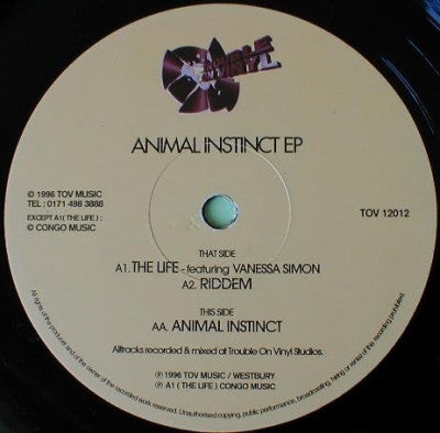DJ KANE - Animal Instinct EP