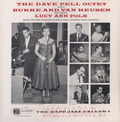 THE DAVE PELL OCTET FEATURING LUCY ANN POLK - The Dave Pell Octet Plays Burke And Van Heusen
