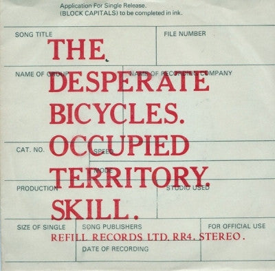 THE DESPERATE BICYCLES - Occupied Territory / Skill