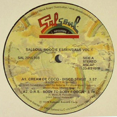 VARIOUS - Salsoul Boogie Essentials Vol. 1