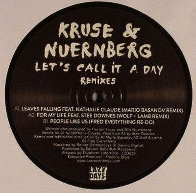 KRUSE & NUERNBERG - Let's Call It A Day Remixes