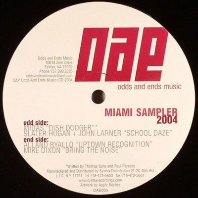 VARIOUS - Miami Sampler 2004