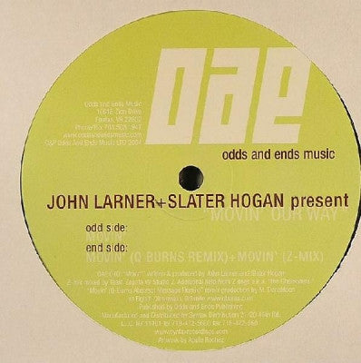 JOHN LARNER + SLATER HOGAN - Movin' Our Way
