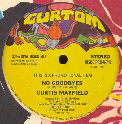 CURTIS MAYFIELD  - No Goodbyes