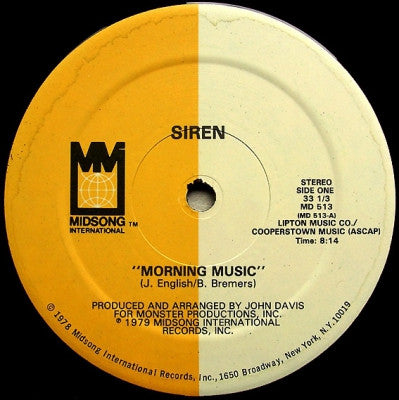 SIREN - Morning Music / Open Up For Love