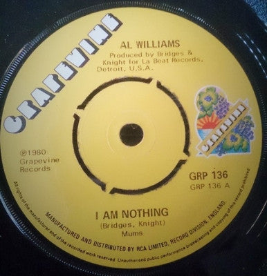 AL WILLIAMS - I Am Nothing / Brand New Love