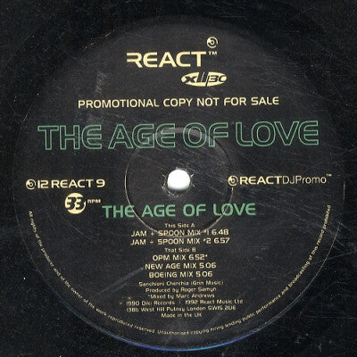 THE AGE OF LOVE - The Age Of Love (Jam & Spoon Remixes)