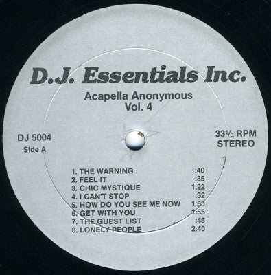 VARIOUS - Acapella Anonymous Vol. 4