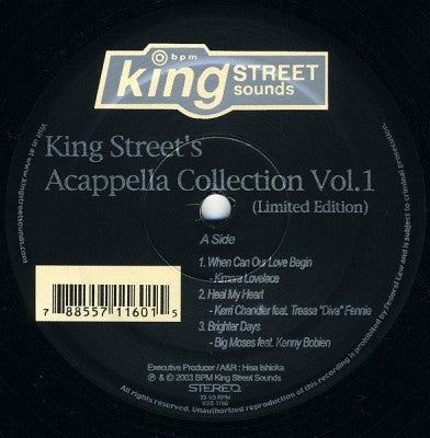 VARIOUS - King Street's Acappella Collection (Volume 1)