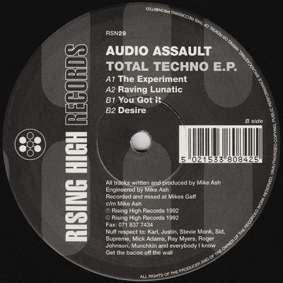 AUDIO ASSAULT - Total Techno E.P.