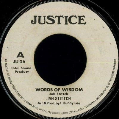 JAH STITCH / THE AGROVATORS - Words Of Wisdom / Advertise Agrovation