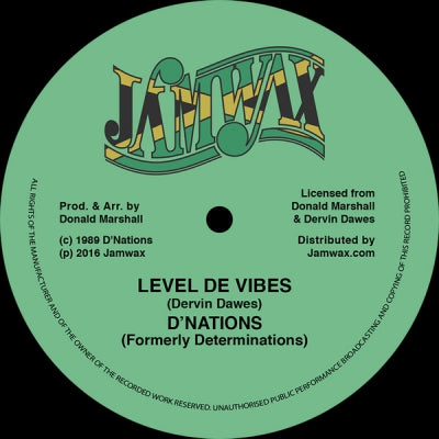 D'NATIONS - Level De Vibes / Vibes Version