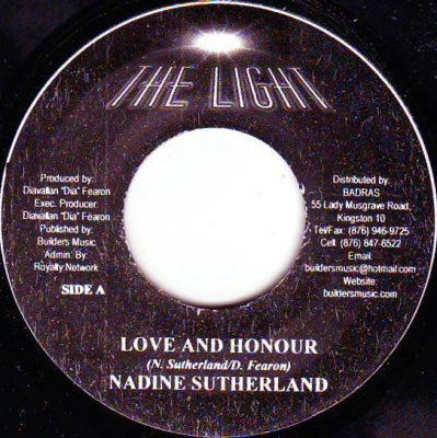 NADINE SUTHERLAND / GHOST - Love And Honour / Can't Stop My Dream