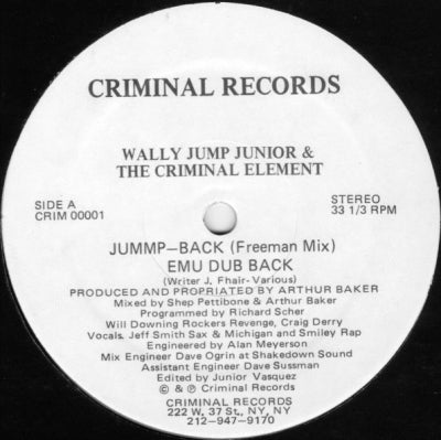 WALLY JUMP JUNIOR AND THE CRIMINAL ELEMENT - Jummp-Back