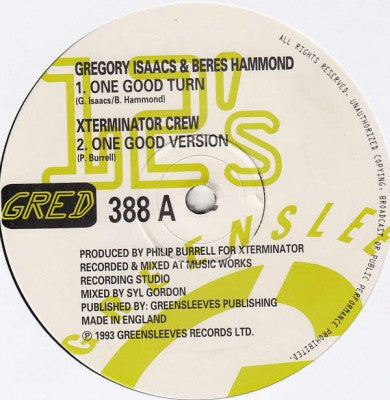 GREGORY ISAACS / BERES HAMMOND / LUCIANO / EXTERMINATOR CREW - One Good Turn / Poor & Simple