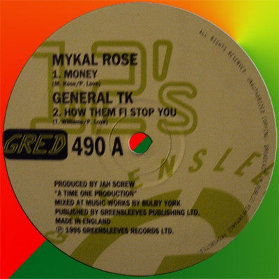 MYKAL ROSE / GENERAL TK / SCREW CREW - Money / How Them Fi Stop You