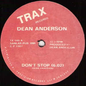 DEAN ANDERSON - Don't Stop