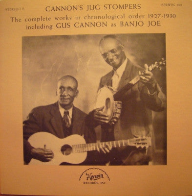 CANNON'S JUG STOMPERS - The Complete Works In Chronological Order 1927-1930