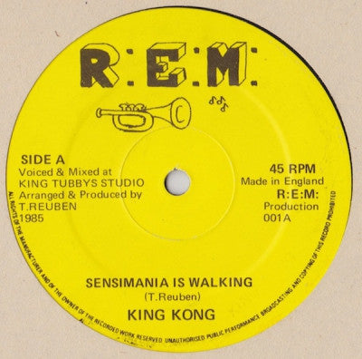KING KONG - Sensimania Is Walking / Digital Sensimania