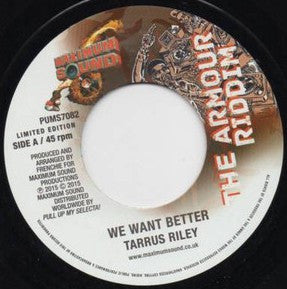 TARRUS RILEY - We Want Better